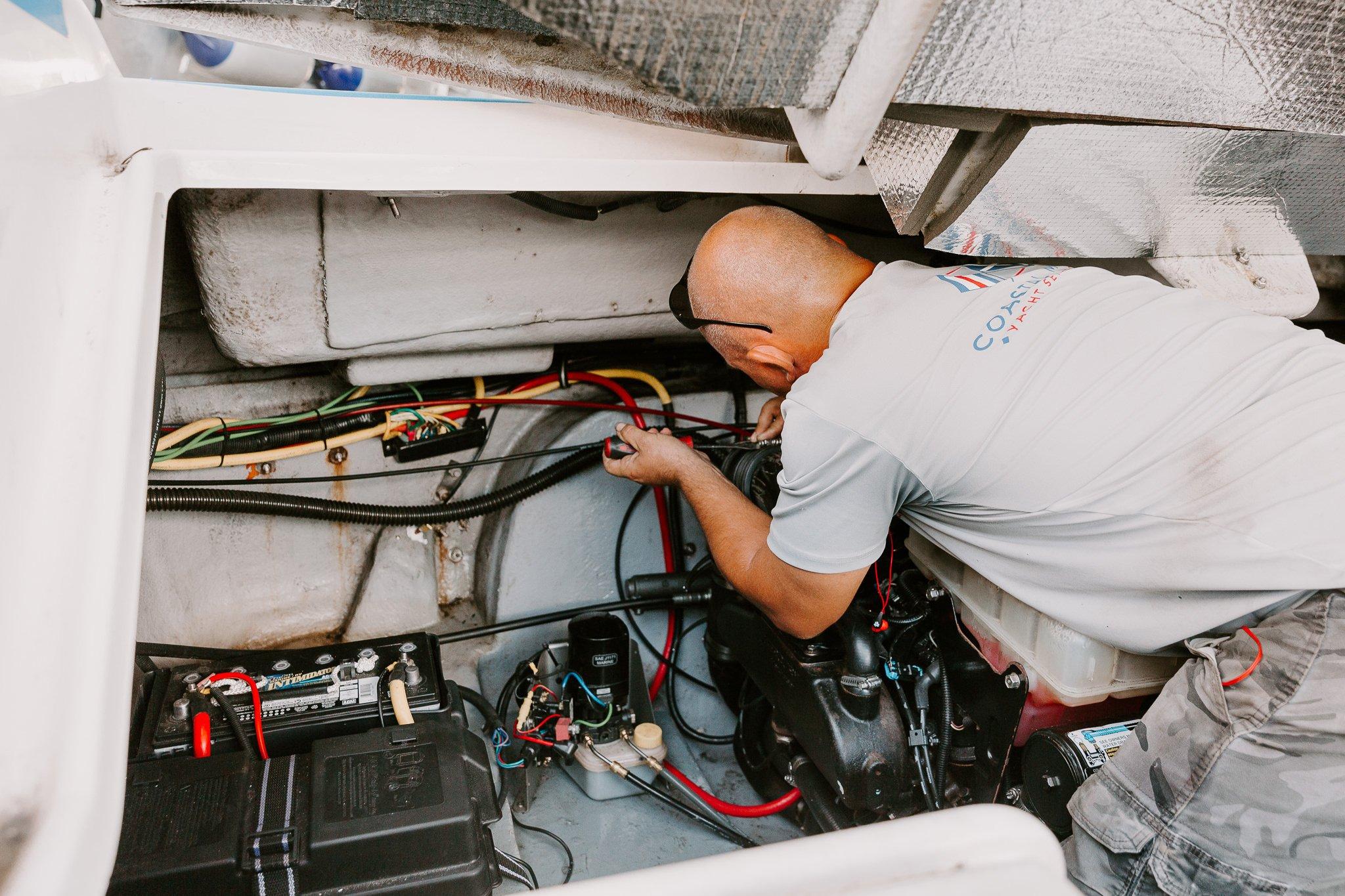 boat technician working