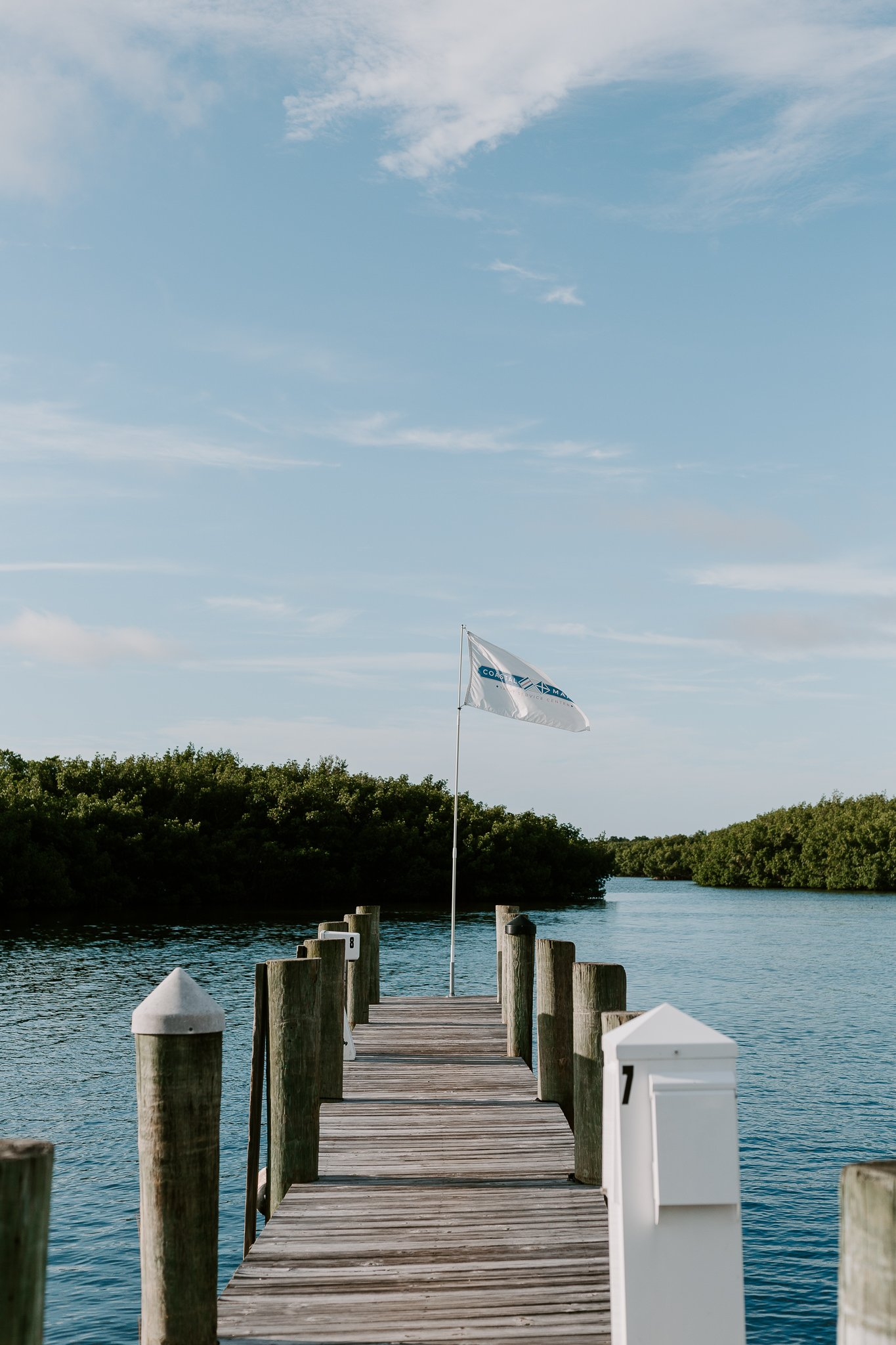 coastal marine yacht service center flag